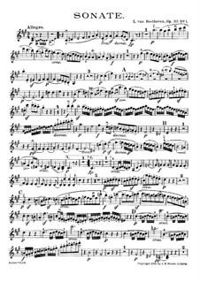 Sonata for Violin and Piano No.6, Op.30 No.1: Parte de solo by Ludwig van Beethoven