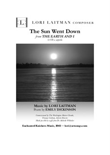 The Earth and I: The Sun Went Down (Song 1) priced for 20 copies by Lori Laitman