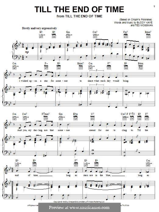 Till the End of Time (Perry Como): Para vocais e piano (ou Guitarra) by Buddy Kaye, Ted Mossman