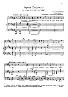 Monologue 'I have Attained Power': Para vocais e piano by Modest Mussorgsky