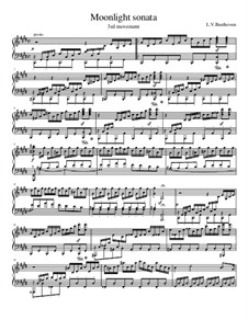 Movement III: For a single performer by Ludwig van Beethoven