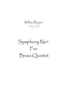 Symphony No.1: Para quarteto de sopro by William Boyce