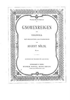 Dance of the Gnomes, Op.90: parte violoncelo by August Nölck