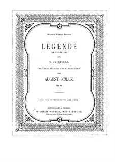 Legend, Op.60: parte violoncelo by August Nölck