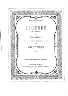 Legend, Op.60: para Violoncelo e piano by August Nölck