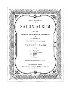 Salon-Album. Sechs Stücke, Op.43: Parte de solo by August Nölck