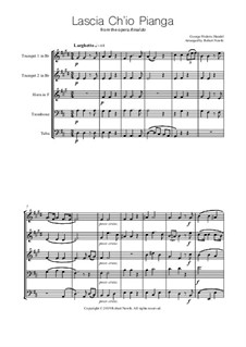 Lascia Ch'io Pianga: Para quinteto de metais by Georg Friedrich Händel