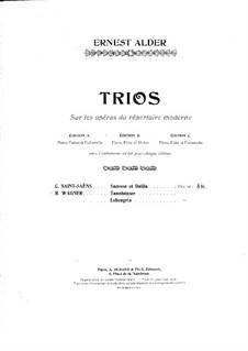 Trio on Themes from 'Samson and Delilah' by C. Saint-Saëns: partitura completa by Richard Ernest Alder