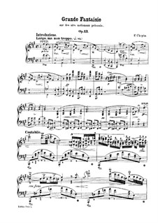 Grand Fantasia in A Major, Op.13: Para Piano by Frédéric Chopin