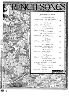 La cloche: French and english texts by Camille Saint-Saëns