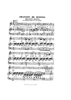 Mignon's Song (Chant de Mignon), D.321: Partitura Piano-vocal by Franz Schubert