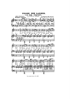 Lob der Tränen (In Praise of Tears), D.711 Op.13 No.2: Partitura piano-vocal by Franz Schubert