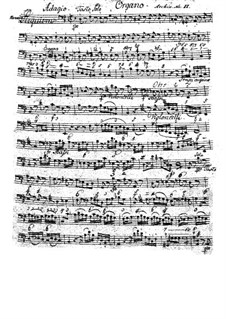 Complete Movements: parte basso continuo by Wolfgang Amadeus Mozart