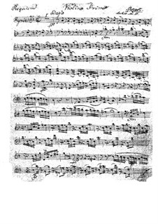 Complete Movements: violino parte I by Wolfgang Amadeus Mozart