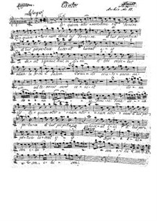 Complete Movements: parte soprano by Wolfgang Amadeus Mozart