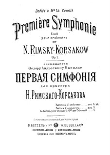 Symphony No.1 in E Minor, Op.1: movimento I by Nikolai Rimsky-Korsakov