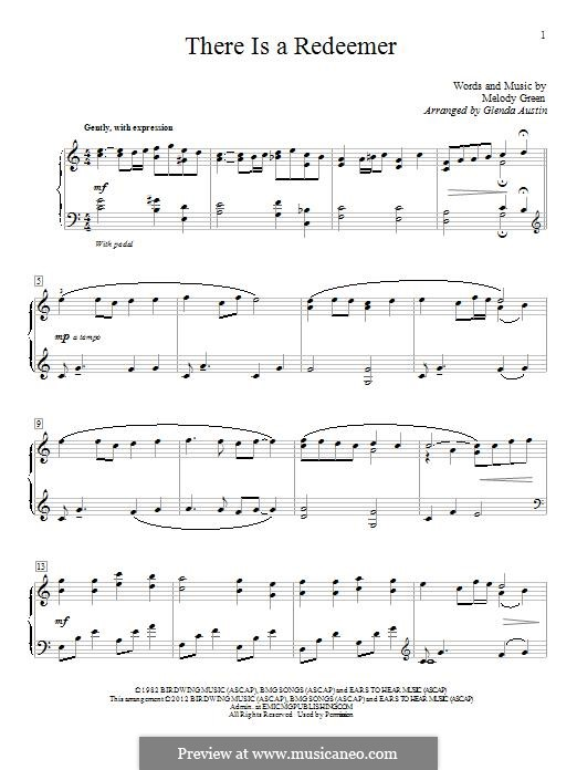 There Is a Redeemer: Para Piano by Keith Green, Melody Green