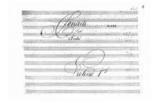 Concerto for Viola and Orchestra in B Flat Major (Unfinished), BI 555: violino parte I by Alessandro Rolla