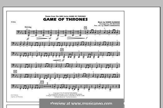 Game of Thrones (arr. Jay Bocook): Tuba, partes by Ramin Djawadi