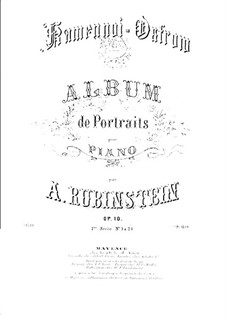 Rocky Islands, Op.10: set completo by Anton Rubinstein
