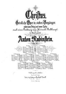 Christus, Op.117: Scene III, for soloists, choir and piano by Anton Rubinstein