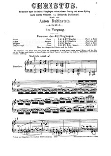 Christus, Op.117: Scene IV, for soloists, choir and piano by Anton Rubinstein