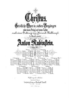 Christus, Op.117: Scene V, for soloists, choir and piano by Anton Rubinstein