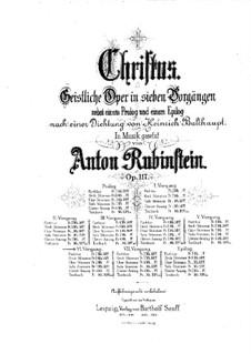 Christus, Op.117: Scene VI, for soloists, choir and piano by Anton Rubinstein
