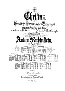 Christus, Op.117: Scene VII, for soloists, choir and piano by Anton Rubinstein