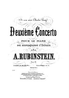 Concerto for Piano and Orchestra No.2 in F Major, Op.35: Movimento I. Versão para dos piano de quatro maõs by Anton Rubinstein