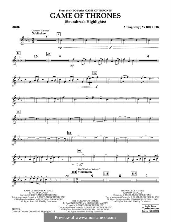 Game of Thrones (Soundtrack Highlights): parte Oboe by Ramin Djawadi