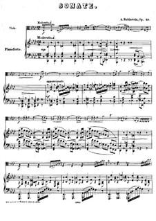 Sonata for Viola (or Cello) and Piano in F Minor, Op.49: Score by Anton Rubinstein