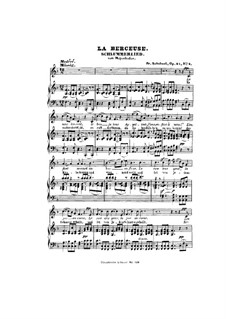 Le berceuse (Slumber Song), D.527 Op.24 No.2: German and french texts by Franz Schubert