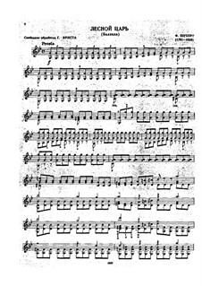 Erlkönig (Forest King), D.328 Op.1: para violino by Franz Schubert