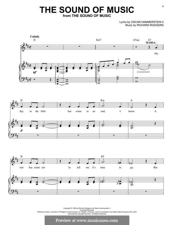 The Sound of Music: Para vocais e piano by Richard Rodgers
