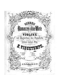 Four Romances without Words, Op.8: No.1, 2, 4 by Henri Vieuxtemps