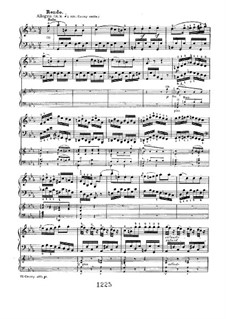 Concerto for Piano and Orchestra No.3, Op.37: Rondo. Version for two pianos four hands by Ludwig van Beethoven