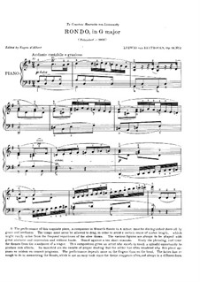 Two Rondos for Piano, Op.51: Rondo No.2 (Edited by d'Albert) by Ludwig van Beethoven