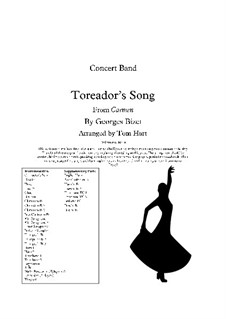 Toreador's Song: For concert band by Georges Bizet