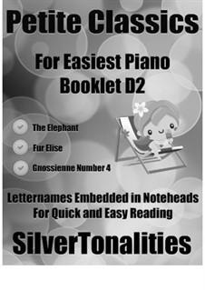 Petite Classics for Easiest Piano Booklet D2: Petite Classics for Easiest Piano Booklet D2 by Camille Saint-Saëns, Ludwig van Beethoven, Erik Satie