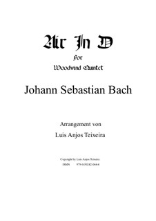 Aria: Version for woodwind quintet by Johann Sebastian Bach