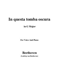 In questa tomba oscura, WoO 133: G maior by Ludwig van Beethoven