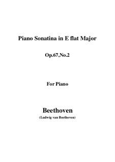 Three Sonatinas for Piano: Sonatina No.1 in E Flat Major by Ludwig van Beethoven
