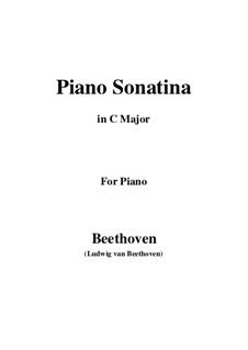 Sonatina in C Major: Para Piano by Ludwig van Beethoven