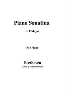 Sonatina in F Major: Para Piano by Ludwig van Beethoven