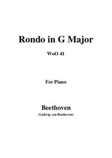 Rondo for Violin and Piano, WoO 41: versão para piano by Ludwig van Beethoven
