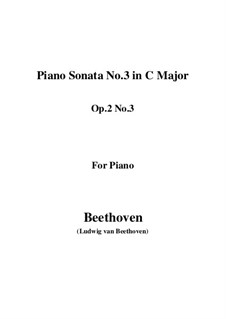 Three Sonatas for Piano, Op.2: Soneto No.3 by Ludwig van Beethoven