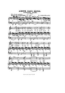 Rastlose Liebe (Restless Love), D.138 Op.5 No.1: Partitura piano-vocal by Franz Schubert