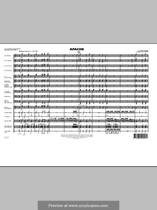 Apache (The Shadows): Full score (arr. Tim Waters) by Jerry Lordan