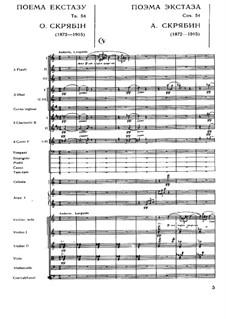 Symphony No.4 in C Major 'The Poem of Ecstasy', Op.54: Partitura completa by Alexander Scriabin